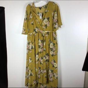 BOGO Free ☀️TORRID  floral chiffon hi-Low dress